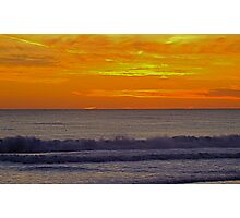 Sunset at Carcavelos Photographic Print