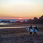 Sunset Surfers by Clickerpic