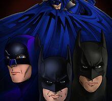 Big Screen Batmen by Frank Pepito