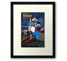 Brick to the Future Framed Print