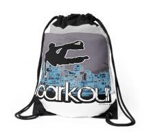 parkour*_blue6 Drawstring Bag