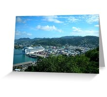 a desolate Saint Kitts and Nevis landscape Greeting Card