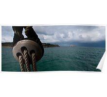 Santander approach from a tallship Poster