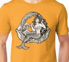 Mermaid and Shark Jaws Unisex T-Shirt