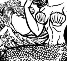 Mermaid and Shark Jaws Sticker