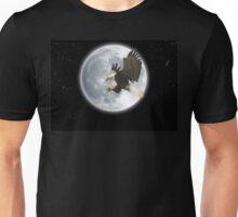 The Explorer (Bald Eagle and Full Moon) Unisex T-Shirt