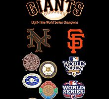 Giants 8-Time World Series Champions by Tomreagan