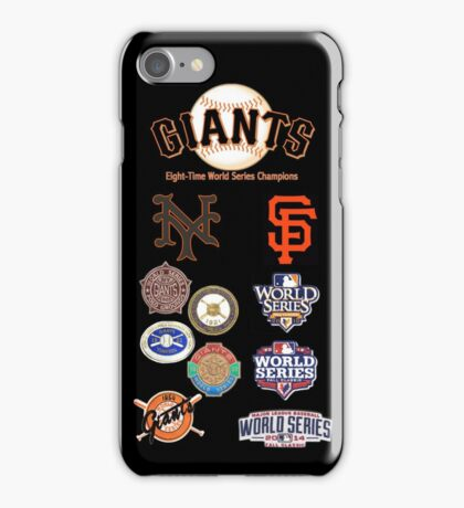 Giants 8-Time World Series Champions iPhone Case/Skin
