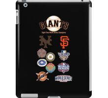 Giants 8-Time World Series Champions iPad Case/Skin