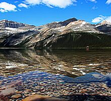 Bow Lake Painted by Vickie Emms