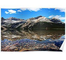 Bow Lake Painted Poster