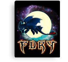 Toothless Dragon Night Fury Canvas Print