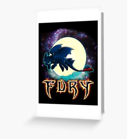 Toothless Dragon Night Fury Greeting Card