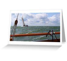 Sailing on the IJsselmeer Greeting Card