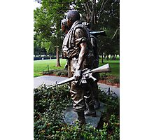 Vietnam War Memorial -- Solemn Soldiers Photographic Print