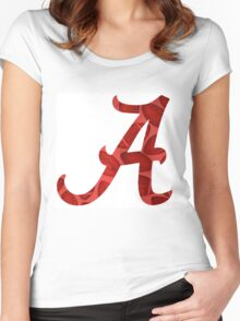 Alabama Football Women's Fitted Scoop T-Shirt