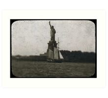 statue of liberty post card Art Print