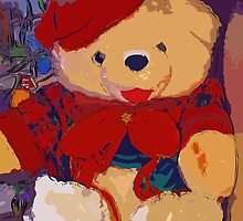 Jolly Christmas teddy bear by ♥⊱ B. Randi Bailey