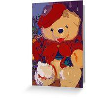 Jolly Christmas teddy bear Greeting Card
