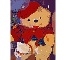 Jolly Christmas teddy bear Photographic Print
