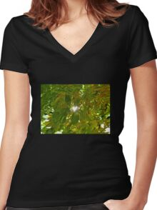 Love Shines Through Women's Fitted V-Neck T-Shirt
