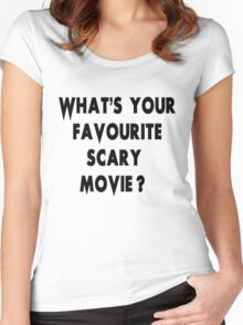 Scream - Scary Movie Women's Fitted Scoop T-Shirt