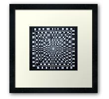 Checkered Abyss Framed Print