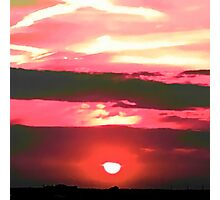 Setting Sun in the Country Photographic Print
