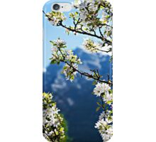 Apple Blossoms Frame the Rockies iPhone Case/Skin
