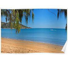 Crowded Magnetic Island Beach Poster