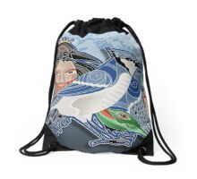 the bluejay Drawstring Bag