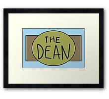 The Dean Championship Belt Framed Print
