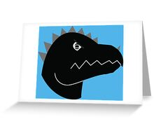 Jurassic Living Dino Head  Greeting Card
