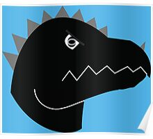 Jurassic Living Dino Head  Poster