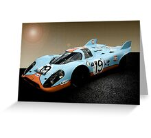 Gulf Porsche 917 Greeting Card