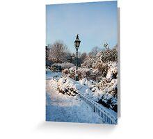 Garden in winter Greeting Card