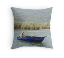 Lone sailor Throw Pillow
