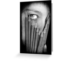 I hide behind my writing and my art. Greeting Card