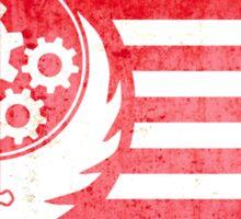 Fallout Brotherhood Of Steel Flag Shirt Sticker