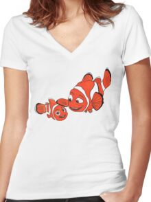 Father and Son Women's Fitted V-Neck T-Shirt