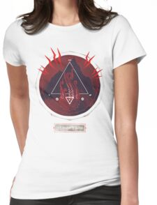 Mountain of Madness (red) Womens Fitted T-Shirt