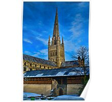 Norwich Cathedral, East Anglia, UK Poster