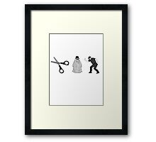 Cut It Out! Framed Print