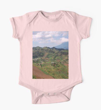 a colourful Rwanda landscape One Piece - Short Sleeve