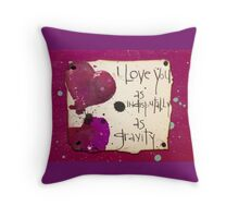 Love, Gravity  Throw Pillow