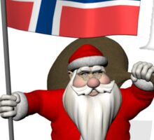 Santa Claus Visiting Norway Sticker