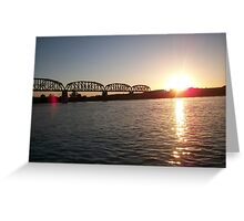 Sunsets in the presence of Parker, AZ. Greeting Card