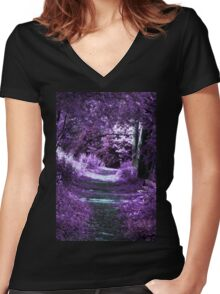 Enchantment Way Women's Fitted V-Neck T-Shirt