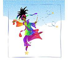 African Sky Dancer Photographic Print