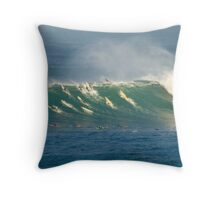 Upside Down Surfing Throw Pillow